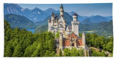 Neuschwanstein Castle Beach Towel by JR Photography