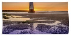 New Brighton Lighthouse Beach Towel