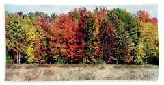 Beach Towel featuring the photograph New Hampshire's True Colors by Joseph Hendrix