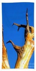 New Orleans Bird Tree Sculpture In Louisiana Beach Sheet