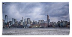 New York Skyline Beach Sheet