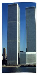 New York World Trade Center Before 911 Photo Beach Towel