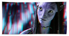Neytiri - Use Red And Cyan 3d Glasses Beach Towel
