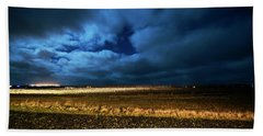 Beach Towel featuring the photograph Icelandic Night  by Dubi Roman