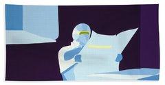 Night Watchman Beach Towel