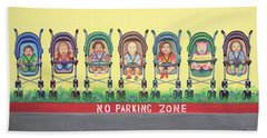 No Parking Zone Beach Towel
