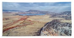 northern Colorado foothills aerial view Beach Sheet