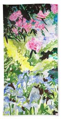 Beach Towel featuring the painting Northern Glen by Esther Newman-Cohen