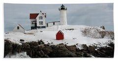 Nubble Point Maine Beach Towel