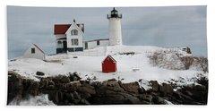 Nubble Point Maine Beach Towel