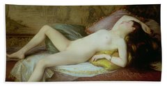 Nude Lying On A Chaise Longue Beach Towel