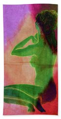 Nude Woman Beach Sheet by Svelby Art
