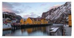 Nusfjord, Lofoten - Norway Beach Towel