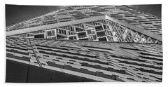 Beach Towel featuring the photograph Nyc West 57 St Pyramid by Susan Candelario