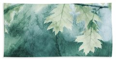 Oak Leaves Beach Towel