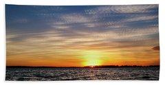 Oklahoma Sunset Beach Sheet by Doug Long