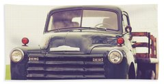 Old Chevy Farm Truck In Vermont Square Beach Towel