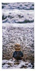 Old Doll On The Beach Beach Towel