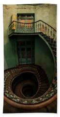 Old Forgotten Spiral Staircase Beach Towel