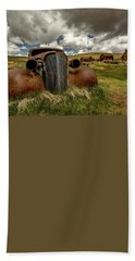 Old Jalopy Bodie State Park Beach Towel