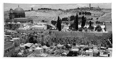 Old Jerusalem Beach Towel by Munir Alawi
