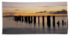 Old Naples Pier Beach Towel by Kelly Wade