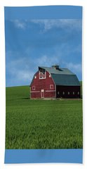Old Red Barn In The Palouse Beach Towel by James Hammond