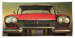 Old-timer Plymouth Beach Towel