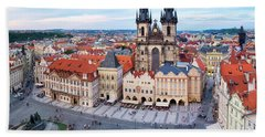 Beach Towel featuring the photograph Old Town Square by Fabrizio Troiani