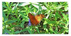 Orange Butterfly Beach Sheet