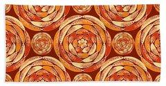Orange Pattern Beach Towel
