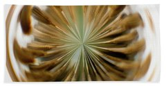 Beach Towel featuring the photograph Orb Image Of A Dandelion by Brenda Jacobs