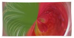 Beach Towel featuring the photograph Orb Image Of A Wild Red Columbine by Brenda Jacobs