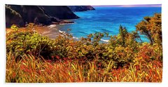 Beach Towel featuring the photograph Oregon Coastal Waters by Nancy Marie Ricketts
