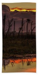 Orlando Wetlands Sunrise Beach Towel