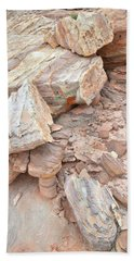 Beach Towel featuring the photograph Ornate Sandstone In Valley Of Fire by Ray Mathis