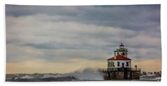 Oswego Harbor West Pierhead Light Beach Sheet