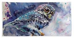 Owl At Night Beach Sheet