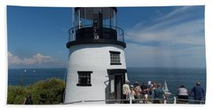 Owls Head Light Beach Towel
