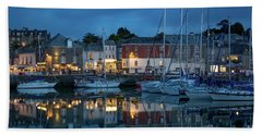 Beach Towel featuring the photograph Padstow Evening by Brian Jannsen