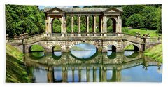 Palladian Bridge Nature Scene Beach Towel