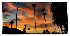 Beach Towel featuring the photograph Palm Springs by Chris Tarpening