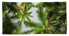 Palm Trees And Blue Sky Beach Towel