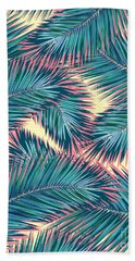Palm Trees  Beach Sheet by Mark Ashkenazi