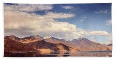 Beach Sheet featuring the photograph Pangong Tso Lake by Alexey Stiop
