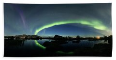Panoramic Aurora Beach Towel
