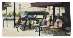 Paris Cafe Beach Sheet