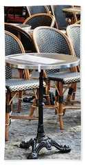 Parisian Cafe Terrace Beach Sheet