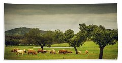 Pasturing Cows Beach Towel