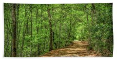 Path Less Travelled - Impressionist Beach Towel
